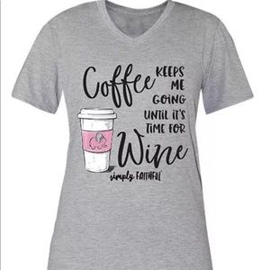Simply Southern Coffee Until Wine Tee Large